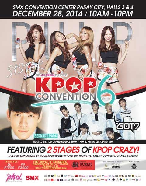 Sistar, GOT7 and Bernard Park at Kpop Convention 6