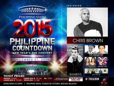 2015 Philippine Countdown featuring Chris Brown