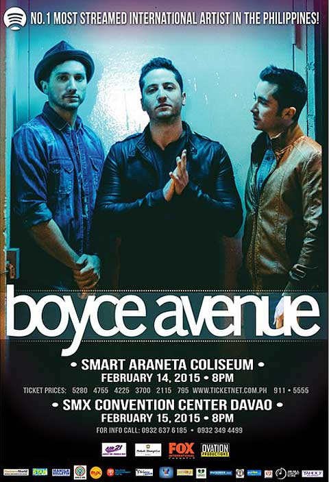 Boyce Avenue Live in Manila 2015