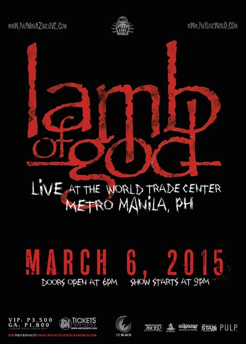 Lamb of God Live in Manila 2015