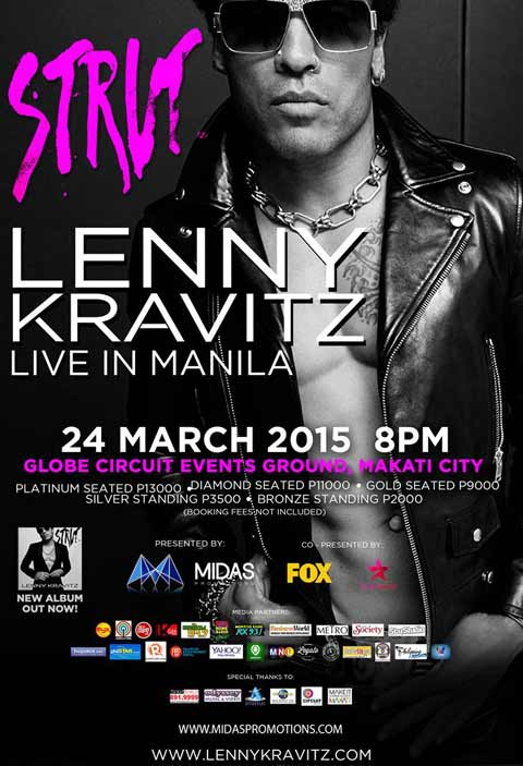 Lenny Kravitz Live in Manila