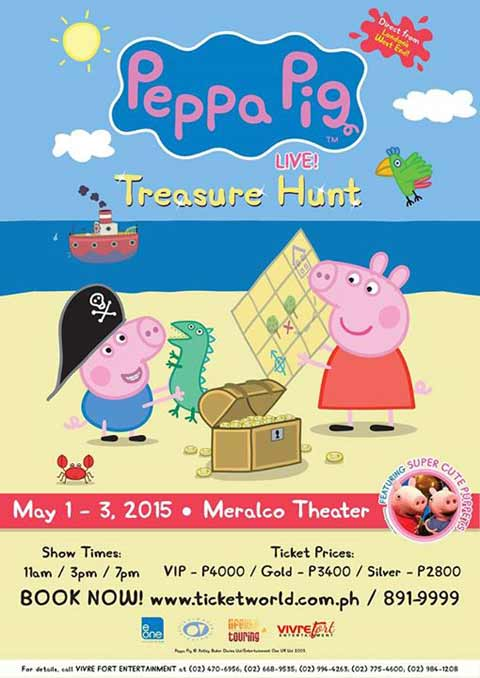 Peppa Pig Live! Treasure Hunt in Manila 2015