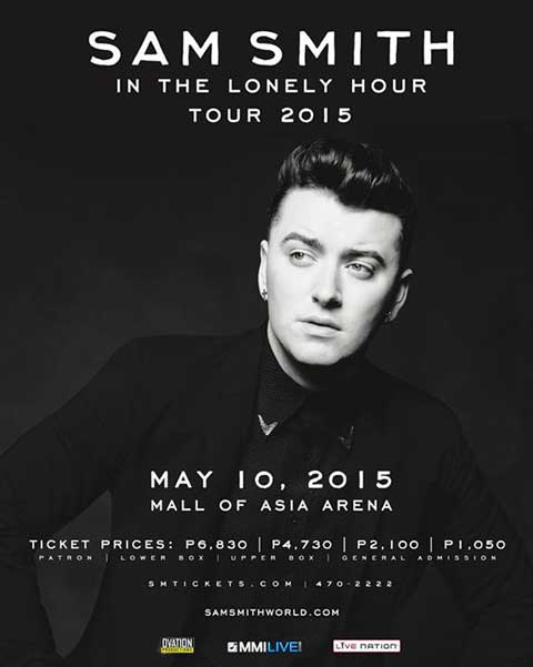 Sam Smith Live in Manila 2015 Postponed