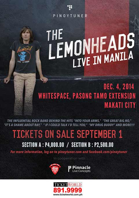 The Lemonheads Live in Manila 2014