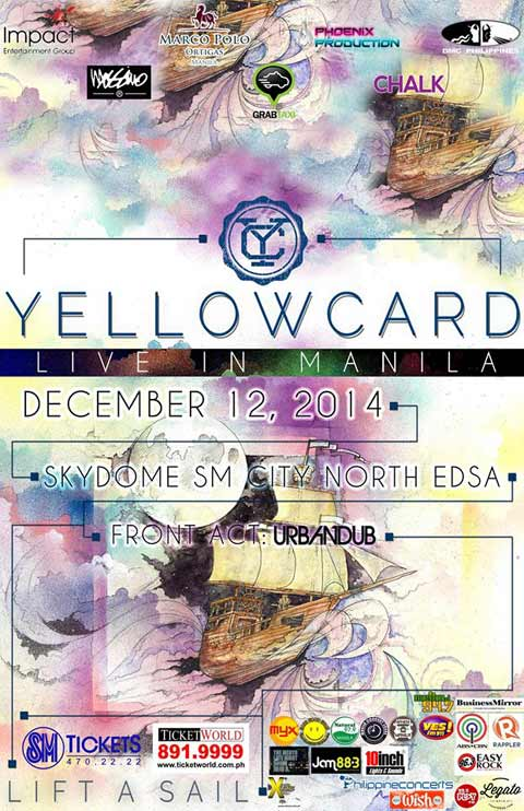 Win Tickets to watch Yellowcard Live at SM Skydome