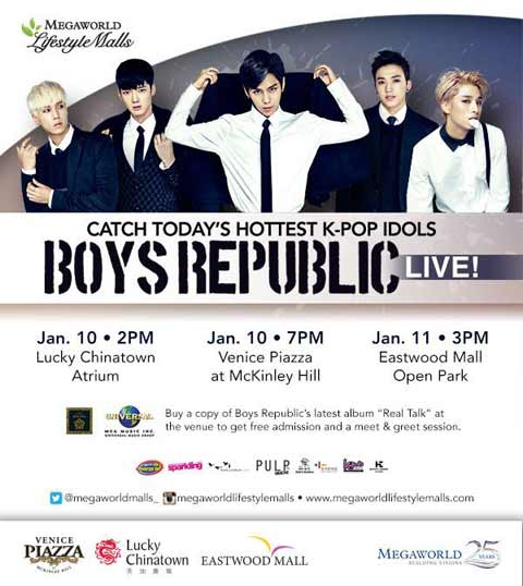 Boys Republic Live at Megaworld Lifestyle Malls