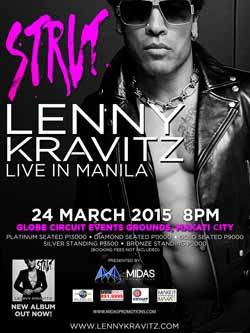 Lenny Kravitz Live in Manila Tickets