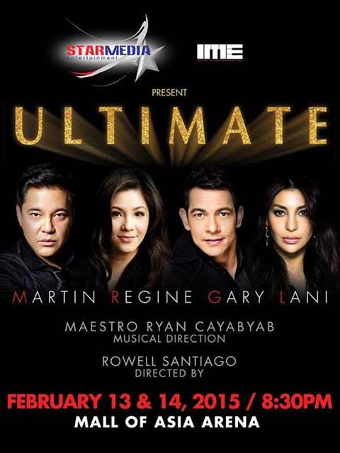 Martin Nievera, Regine Velasquez-Alcasid, Gary Valenciano, and Lani Misalucha Ultimate Concert