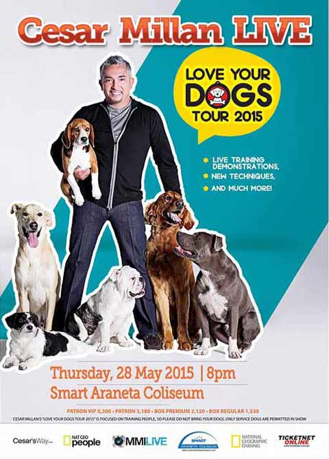 Cesar Millan Live in Manila 2015 Cancelled