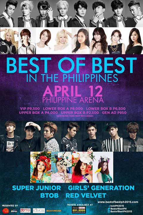 Best of Best in the Philippines featuring Girls Generation, Red Velvet, BTOB and Super Junior
