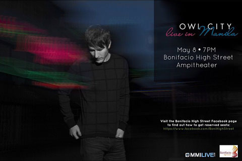 Owl City Live in Manila 2015 Free Concert