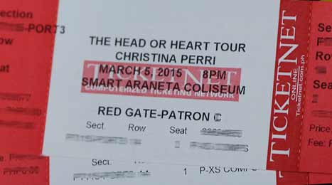 Win Patron Tickets to watch Christina Perri Live in Manila