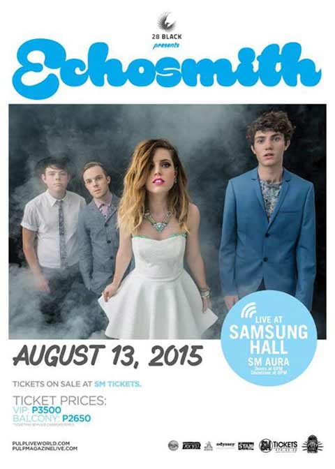 Echosmith Live in Manila 2015