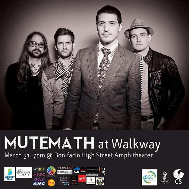 Free Concerts: Mutemath and Kye Kye Live in Manila 2015