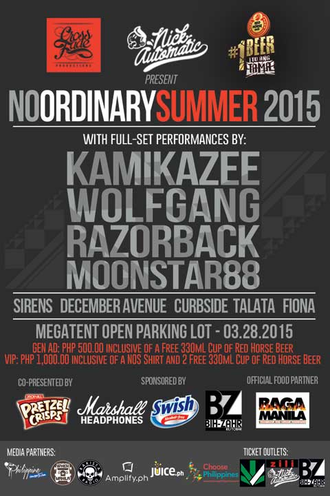 No Ordinary Summer 2015 feat. Kamikazee, Razorback, Moonstar88 and Wolfgang