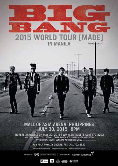 Big Bang Live in Manila 2015