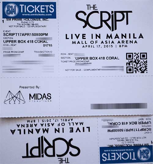 Win Tickets to watch The Script Live in Manila