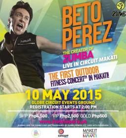Zumba Creator Beto Perez Live at Circuit Makati