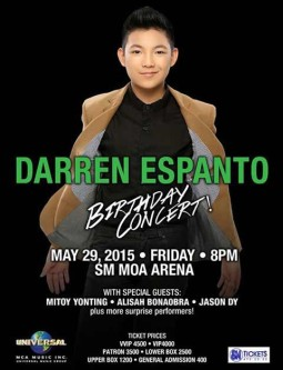 Darren Espanto Birthday Concert at MOA Arena