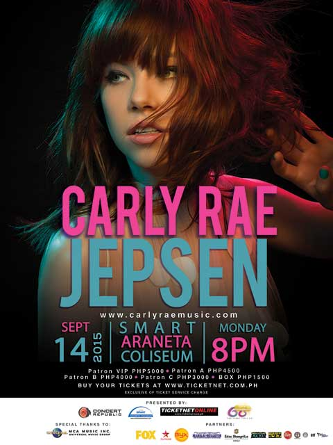 Carly Rae Jepsen Live in Manila 2015