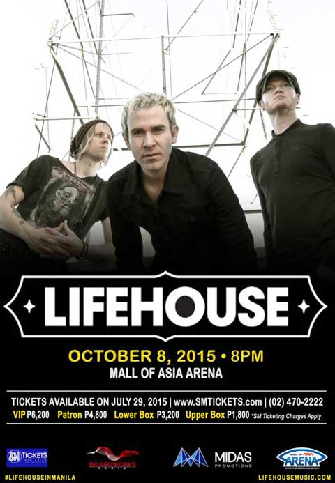 Lifehouse Live in Manila 2015