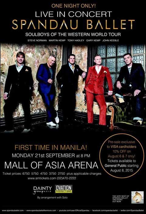 Spandau Ballet live in Manila 2015