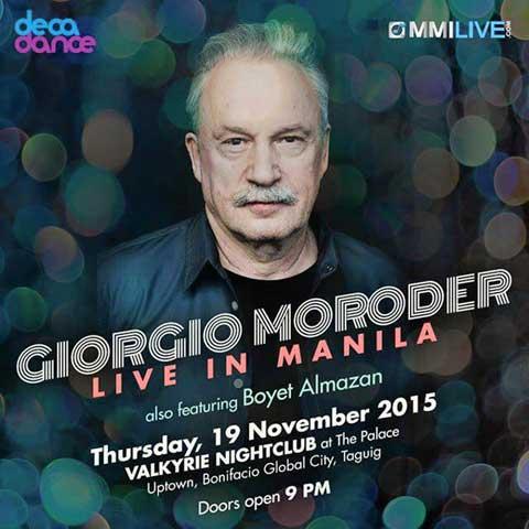 Giorgio Moroder Live in Manila 2015 Postponed