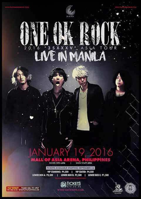 ONE OK ROCK Live in Manila 2016