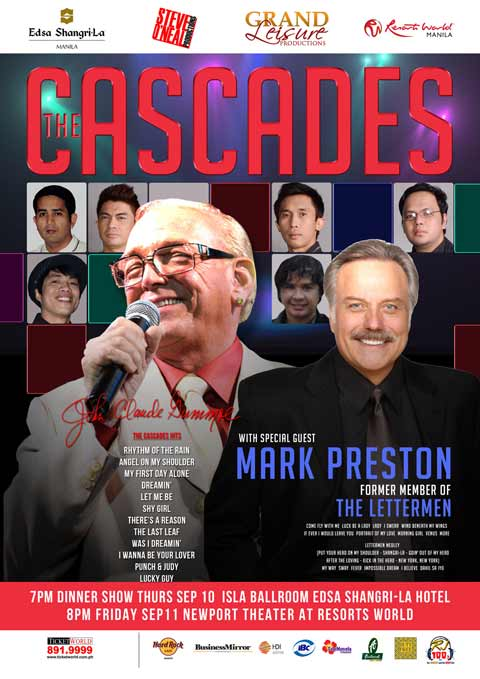 The Cascades with Mark Preston Live in Manila 2015