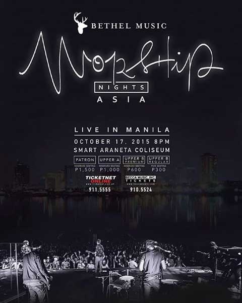 Bethel Music Live in Manila 2015 Cancelled