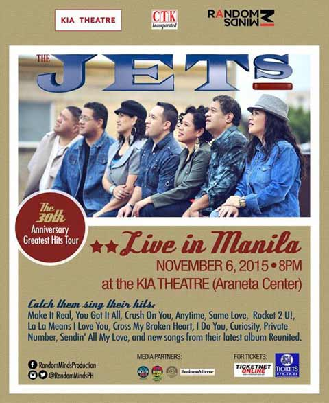 The Jets Live in Manila and Cebu 2015
