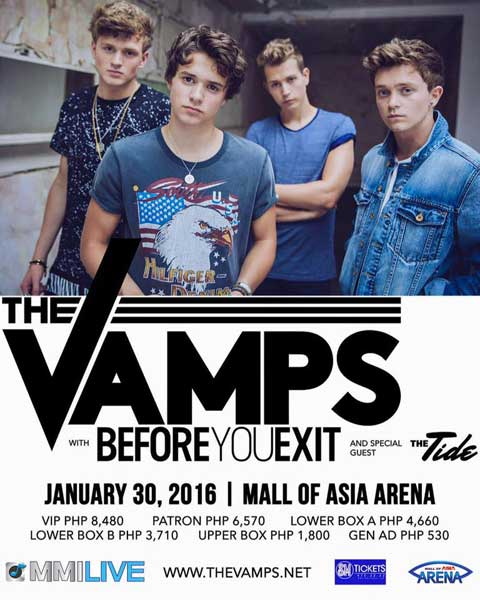 3LOGYINMANILA: The Vamps, Before You Exit and The Tide