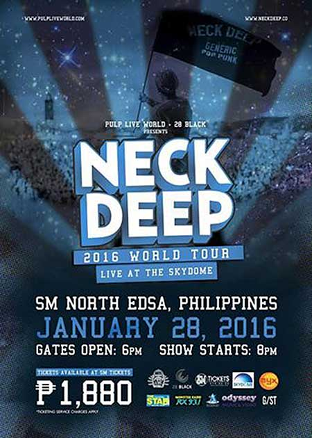 Neck Deep Live in Manila 2016