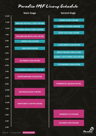 paradise-imf-line-up-schedule
