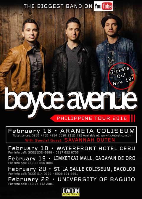 Boyce Avenue 2016 Philippine Tour
