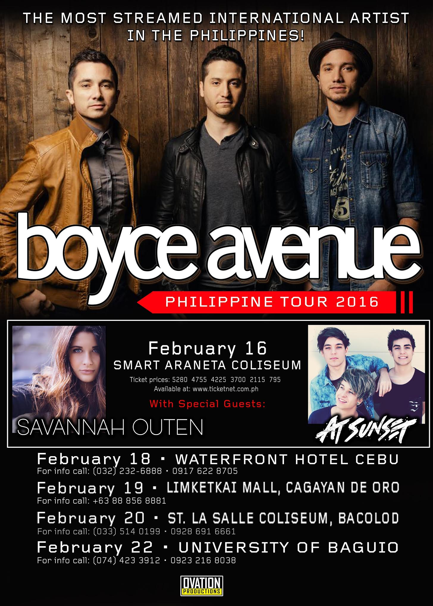 Boyce Avenue Tour Philippines Tickets