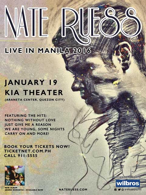 Nate Ruess Live in Manila