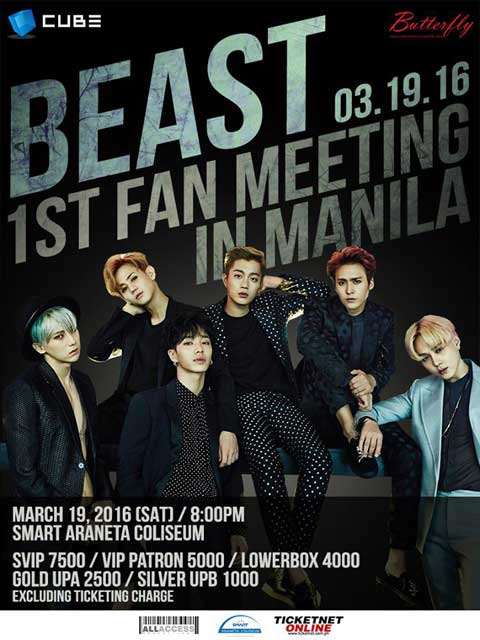 Beast 1st Fan Meeting in Manila 2016
