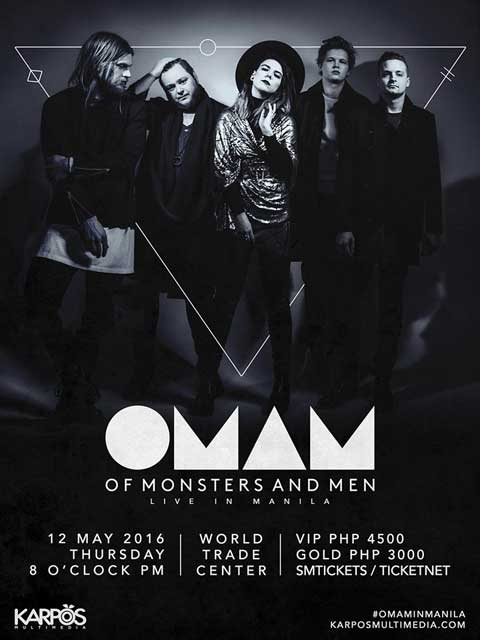 Of Monsters and Men Live in Manila 2016