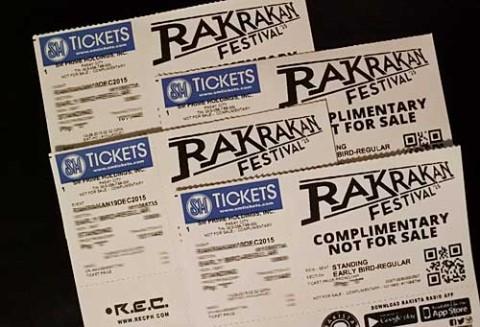 Rakrakan Festival Ticket Promo