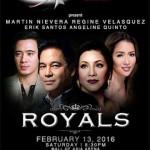 Royals: Martin Nievera, Regine Velasquez, Erik Santos and Angeline Quinto