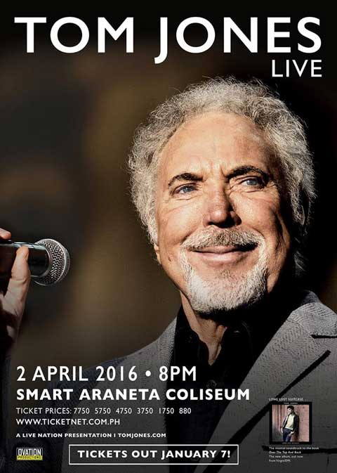 Tom Jones Live in Manila 2016 Cancelled