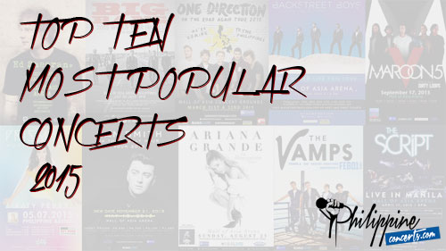 Top Ten Most Popular Concerts in 2015