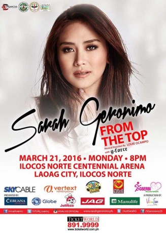 Sarah G From the Top Laoag