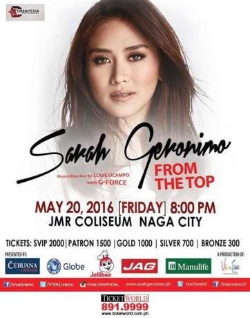 Sarah G From the Top Batangas