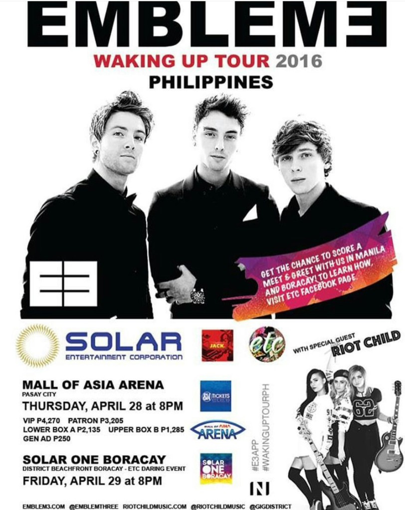 Emblem3 live in manila and boracay cancelled philippine concerts m4hsunfo