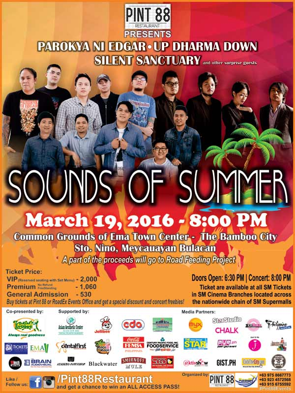 Sounds of Summer: Silent Sanctuary, UP Dharma Down and Parokya ni Edgar