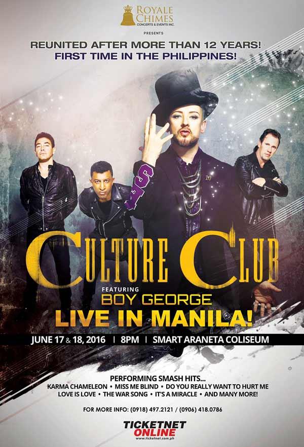 Culture Club featuring Boy George Live in Manila 2016