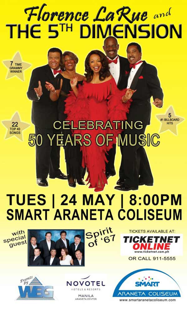 Florence LaRue and The 5th Dimension Live in Manila 2016