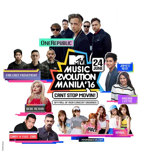 MTV Music Evolution Manila 2016 feat. OneRepublic